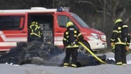 Наборту рухнувшего вГермании самолета находились двое россиян