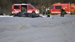 Крушение самолета вГермании произошло из-за возможной потери контроля при повороте