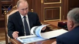Путин обсудил развитие Северного морского пути сглавой «Роснефти» Сечиным