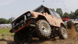 Надежный способ вызволения застрявшего авто изгрязи— лайфхак свидео
