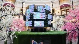 Видео: ВМоскве появился уникальный арт-объект— «Цифровое теледерево»