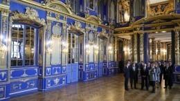 Путин иБеглов посетили восстановленную церковь Екатерининского дворца вПушкине
