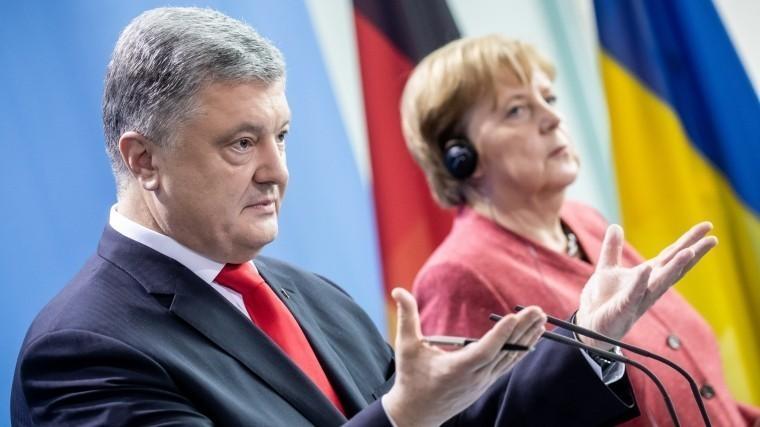 Порошенко иМеркель признали наличие разногласий по«Северному потоку-2»