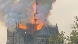 «Горит часть нас»: Макрон опожаре вСоборе Парижской Богоматери