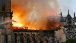 Пожар вСоборе Парижской Богоматери полностью потушен