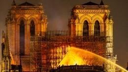 Названы три версии пожара вСоборе Парижской Богоматери— видео