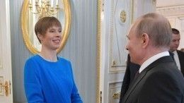 Видео: Путин провел переговоры спрезидентом Эстонии