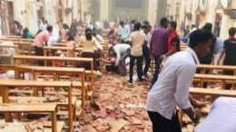 Видео: Число жертв взрывов наШри-Ланке увеличилось до185 человек