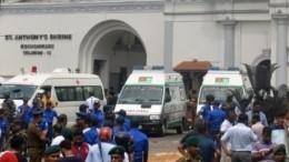 Атака нахрам: Момент взрыва вцеркви наШри-Ланке попал навидео