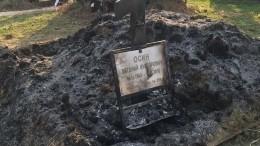 Вандалы разгромили могилу Осина наТроекуровском кладбище— видео