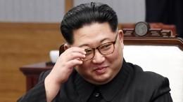 Ким Чен Ыннестал пробовать каравай настанции вПриморском крае