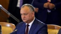 «Странный случай»: Президент Молдавии обинциденте сBoeing 737-800