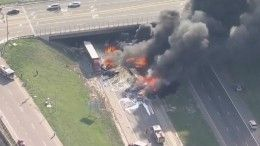 Огненное видео: около 30 машин столкнулись натрассе вКолорадо