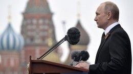 «День гордости искорби»— Путин выступил наПараде победы вМоскве