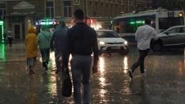 «Невидно низги»: НаМоскву обрушилась сильнейшая гроза, пострадали 10 человек