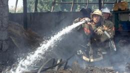 Крупный пожар произошел нанефтебазе вКиргизии