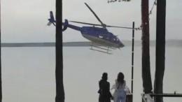 СКРФзаинтересовался приземлением вертолета напляж вЛенобласти