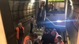 Опубликовано видео эвакуации пассажиров втоннеле московского метро