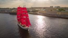 Главный символ «Алых парусов-2019» бриг «Россия» прибыл впорт постоянной приписки— Санкт-Петербург
