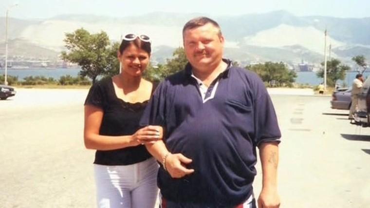 Михаил Круг с женой Ириной.