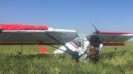 Легкомоторный самолет совершил жесткую посадку вКалмыкии— фото