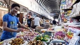 Видео: Главный продовольственный рынок возрождают вАллепо