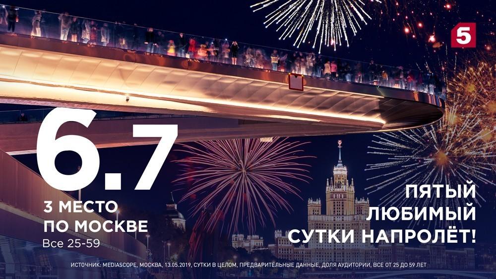 Телезрители столицы смотрят Пятый канал сутки напролет!