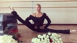 Видео: Анастасия Волочкова попыталась сесть нашпагат находулях