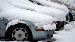 Снег вИркутской области парализовал движение— видео