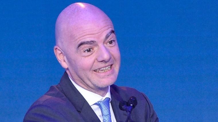 Инфантино переизбран напост президента ФИФА