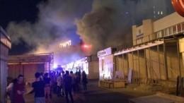 Павильоны рынка загорелись вКазани— видео