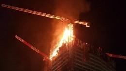 Небоскреб загорелся вВаршаве— видео