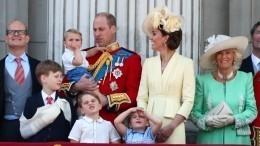 Видео: Принц Луи впервые поприветствовал подданных сбалкона Букингемского дворца