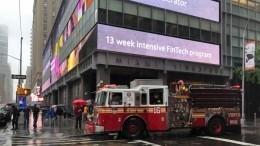 Вертолет врезался вкрышу небоскреба вНью-Йорке