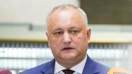 Президент Молдавии намерен аннулировать указ ороспуске парламента