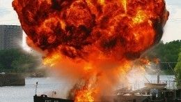 Взрыв произошел натанкере впорту Махачкалы