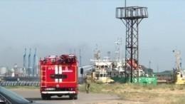 Видео сместа: Взрыв натанкере впорту Махачкалы