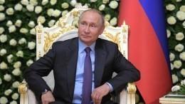 Видео: Путин прибыл водворец Навруз вДушанбе насаммит СВМДА