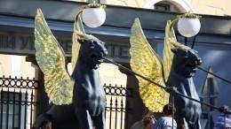 Банковский мост вПетербурге открыли после реставрации— видео