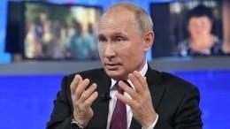 Юный москвич спросил Путина омилитаризации наТВ— Ккакой войне нас готовят?
