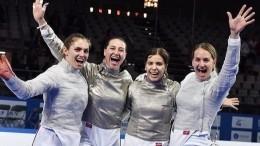 Российские саблистки взяли «золото» наЧемпионате Европы— фото