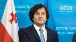 Спикер грузинского парламента ушел вотставку нафоне протестов