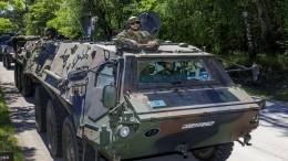 Танкисты США распугали фермеров научениях НАТО