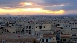 Жители города Дарайя вСирии, разрушенного боевиками, восстанавливают свои дома