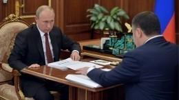 Глава Тверской области представил Путину программу форума «Реки России»