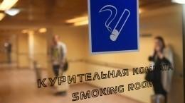 Втранспортной полиции поддержали идею вернуть курилки ваэропорты