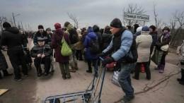 УКПП «Станица Луганская» вДонбассе началось разведение сил