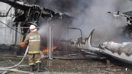 Следственный комитет опубликовал видео полыхающего самолета Ан-24 вБурятии