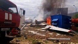 Момент жесткой посадки самолета Ан-24 вБурятии попал навидео