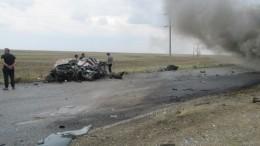 Пять человек погибли вКалмыкии вДТП сгрузовиком